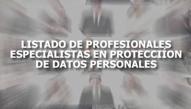 Listado de profesionales